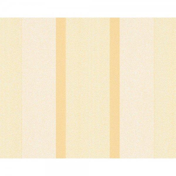 """A.S. Création Vliestapete """"Essentials"""" Streifen Creme Gelb 307164"""