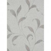 PREMIUM VLIES-Tapete Floral Grau Weiß Beige 5950-11