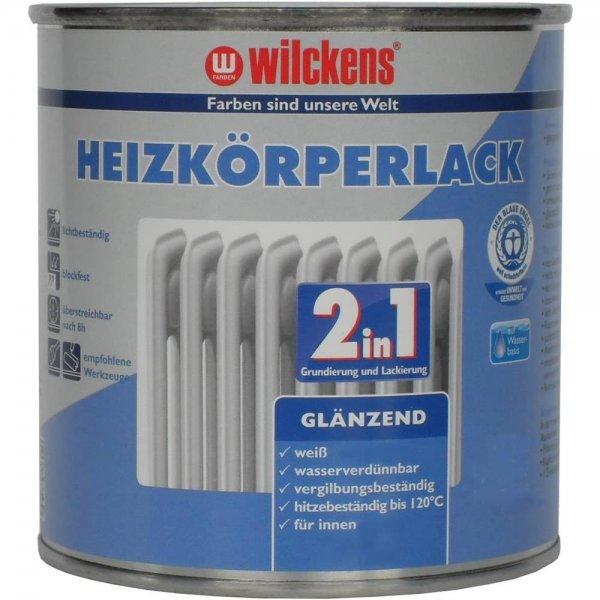 Wilckens Heizkörperlack 2in1 Weiß glänzend 750 ml