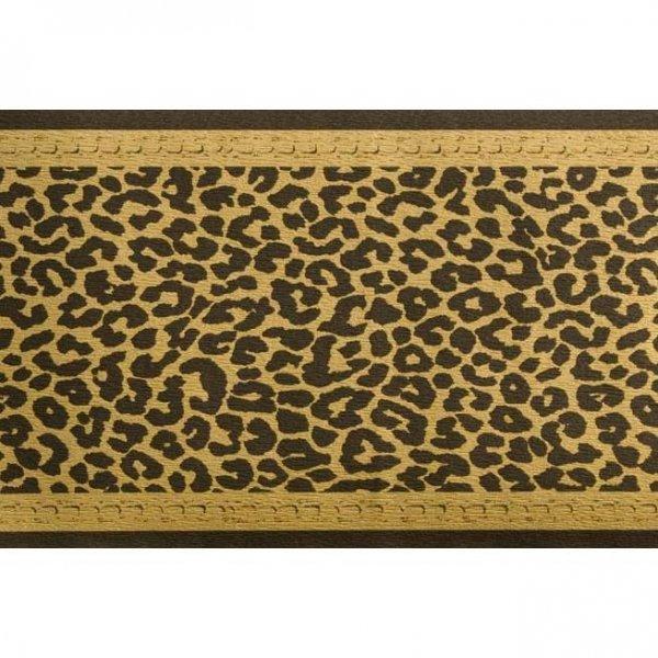 """1 ROLLE Tapeten Bordüre """"Leopard"""" Schwarz Gold"""