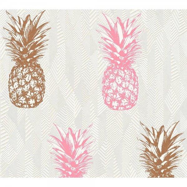 Vliestapete A.S. Création Club Tropicana Ananas 359973