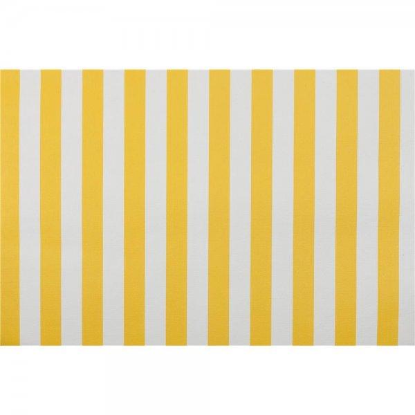 1 ROLLE PREMIUM Landhaus-Tapete Streifen Gelb Weiß 4520-6