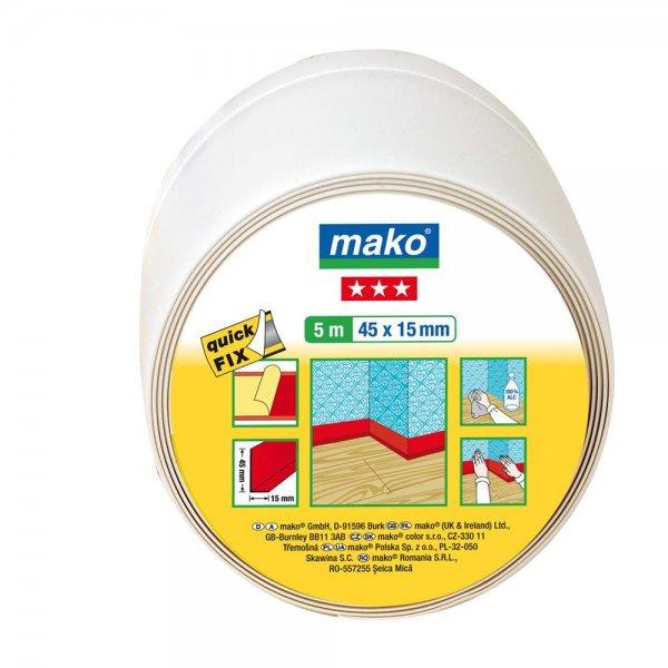 mako quickFIX Weich-Sockelleiste weiß selbstklebend 25 m x 45 x15 mm