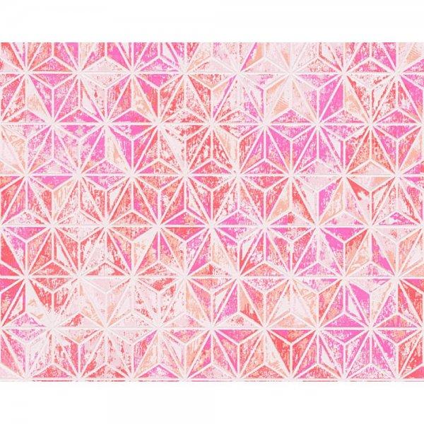 "A.S. Création ""Vision"" Vliestapete Grafik Orange Rosa Rot 307057"