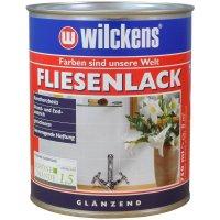 Wilckens Fliesenlack Weiß glänzend 750 ml für Innenbereich gute Wasserbeständigkeit