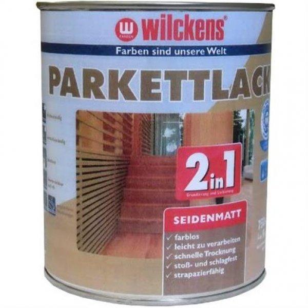 Wilckens 2in1 Parkettlack farblos seidenmatt 750 ml