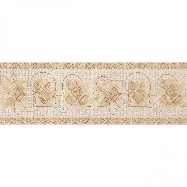 Tapeten BORDÜRE -RESIDENCE- Weiß Creme Gold 7425-1