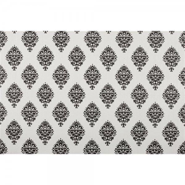 1 ROLLE PREMIUM PAPIER-Tapete Ornament Schwarz Weiß 4551-2