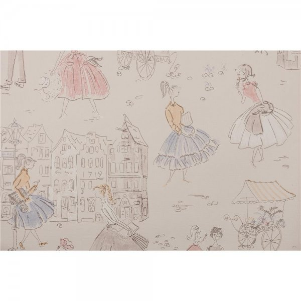 1 ROLLE PREMIUM PAPIER-Tapete Mary 2 The 1950s Look 1951-2
