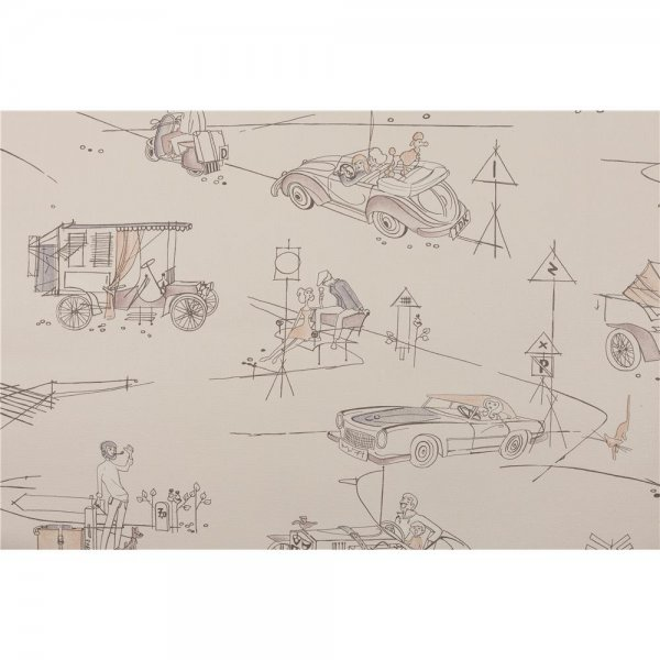 1 ROLLE PREMIUM PAPIER-Tapete Cars 2 The 1950s Look 1952-2
