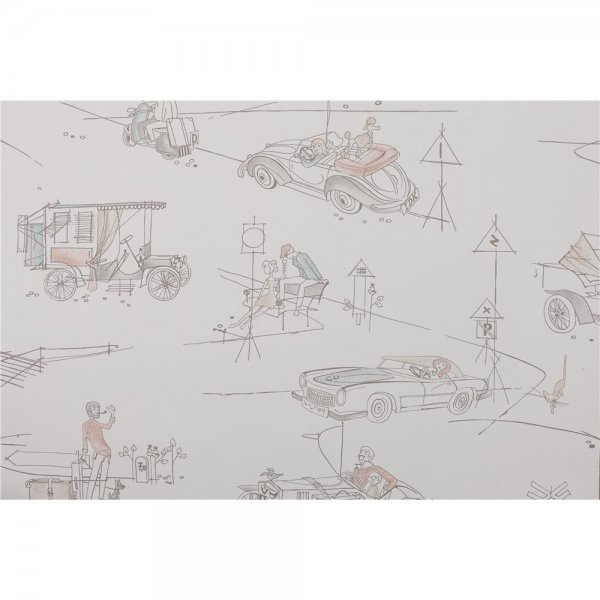 1 ROLLE PREMIUM PAPIER-Tapete Cars 1 The 1950s Look 1952-1