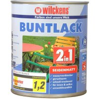 Wilckens Buntlack 2in1 seidenmatt, reinweiß 750 ml, RAL 9010