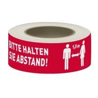 """PVC-Klebeband """"BITTE HALTEN SIE ABSTAND!"""""""