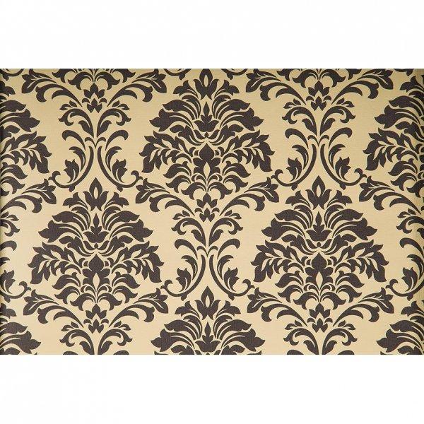 1 rolle premium tapete gelb schwarz ornament pr getapete tapetenkontor. Black Bedroom Furniture Sets. Home Design Ideas
