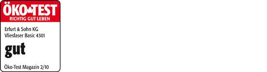 logo oekotest vf basic 4301 px565 - Erfurt Vliesfaser Tapete Basic 4301